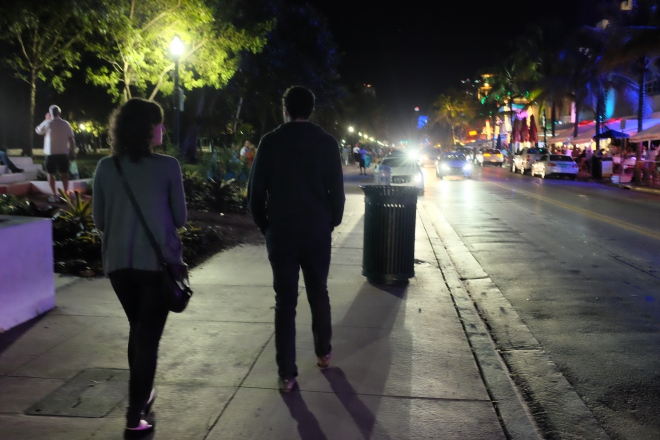 Laur and Dave walk the Strip.