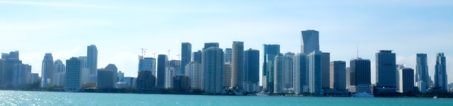 View of Miami skyline.